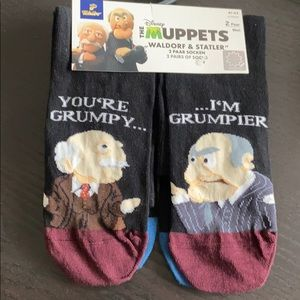 Muppets 2 pairs of men's socks 8 to 10